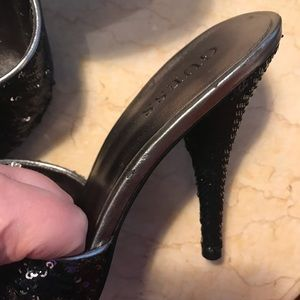 Guess Shoes - Guess sequin party mule heels size 7.5